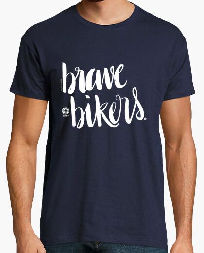 T-shirt lettering brave ciclisti