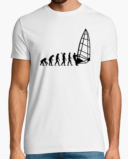 Tee-shirt l'évolution de la planche à voile