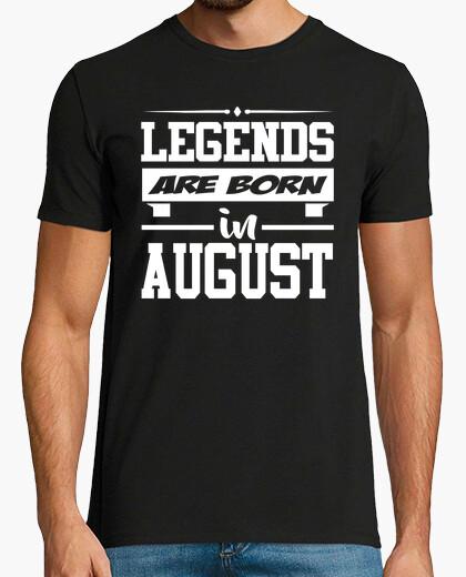 Camiseta leyendas nacen en agosto
