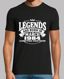 leyendas nacen en marzo de 1984