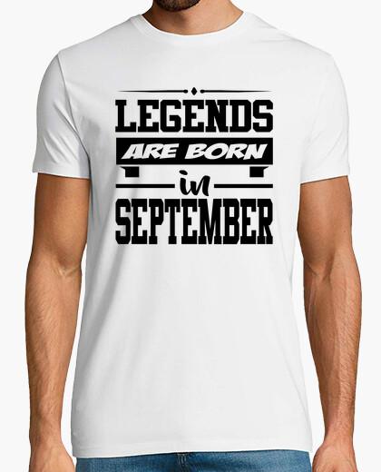 Camiseta leyendas nacen en septiembre