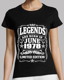 leyendas nacidas en junio de 1978