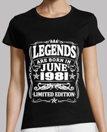 leyendas nacidas en junio de 1981