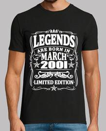 leyendas nacidas en marzo de 2001