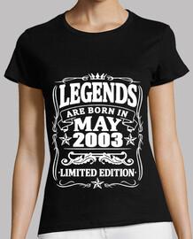 leyendas nacidas en mayo de 2003
