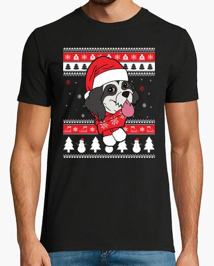 Tee-shirt lhasa apso chien de noël