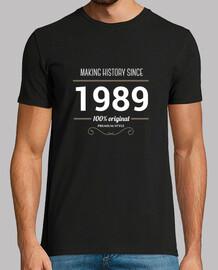 l'histoire de la fabrication de texte blanc 1989