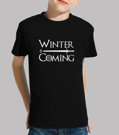 l'hiver arrive à la neige