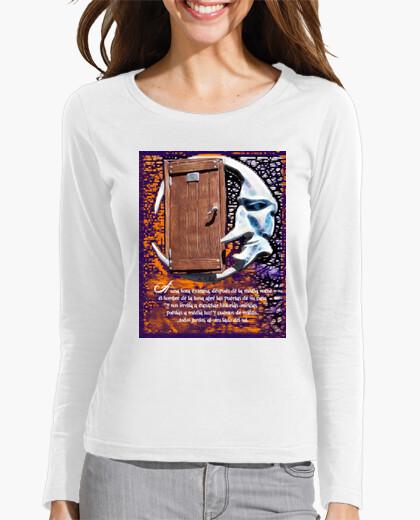 Tee-shirt l'homme de la lune à manches longues  femme