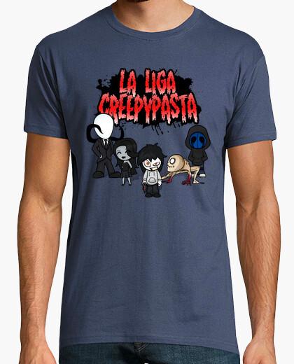 Tee-shirt l'homme ligue creepypasta manches courtes