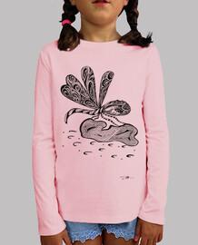 libélula, camisetas, de manga corta, de color rosa