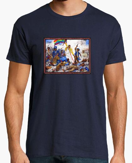 T-shirt libertà che guida il popolo