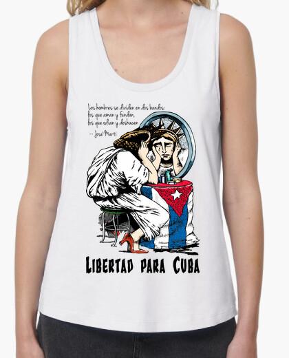 Libertad para Cuba - Camiseta de chica de tirantes