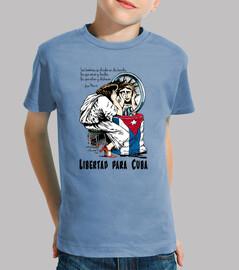 Libertad para Cuba - Camiseta para niño de manga corta