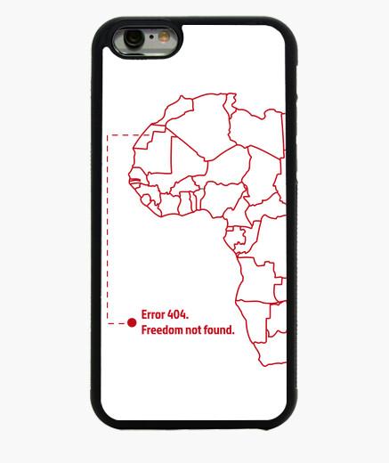 Coque Iphone 6 / 6S liberté not trouvé (rouge)
