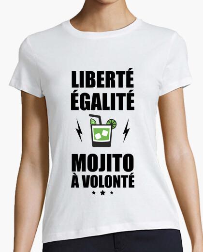 Tee-shirt liberté,égalité,moito à volonté