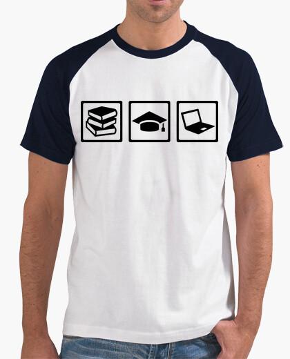 T-shirt libri studente di informatica laurea