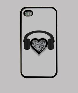 liebe musikrhythmusherzschlag iphone fall