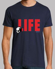 LIFE for ever,Hombre, manga corta, azul marino, calidad extra