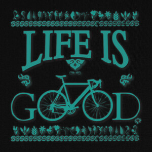 Camisetas life is good with my bike
