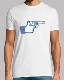 like a gun, facebook like