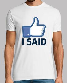 like i said , facebook like