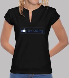 Like sailing ®IBaixauli. Logo transparente