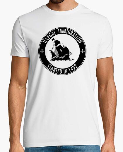 Tee-shirt l'Immigration Illégale a commencé en 1492