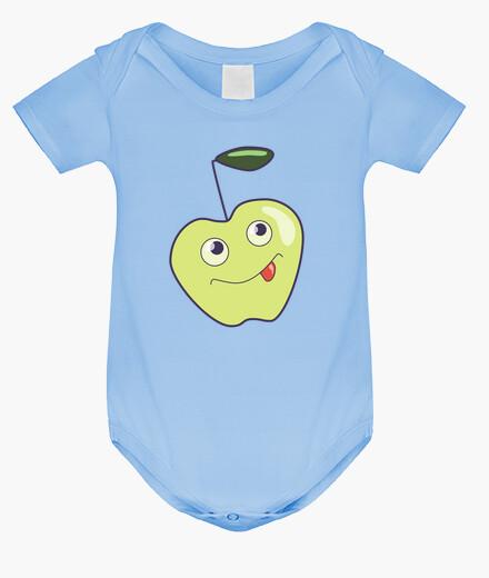 Ropa infantil Linda manzana sonriente de dibujos anim