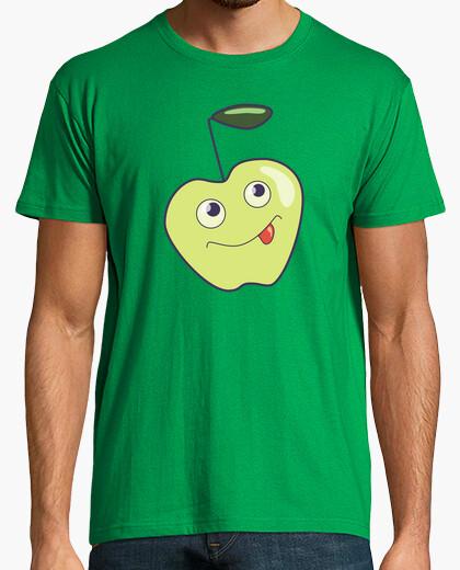 Camiseta linda sonrisa manzana de la historieta