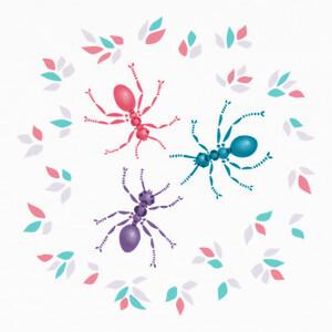 lindas hormigas en tonos pastel T-shirts
