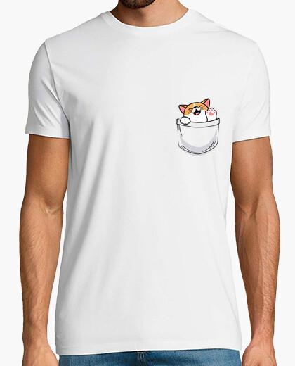 Camiseta lindo gatito en el bolsillo