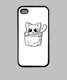 lindo gato de bolsillo blanco