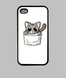 lindo gato de bolsillo gris