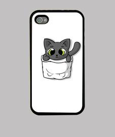 lindo gato de bolsillo negro