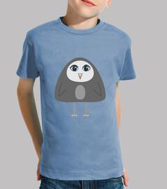 lindo geométrica niños pingüino camiseta