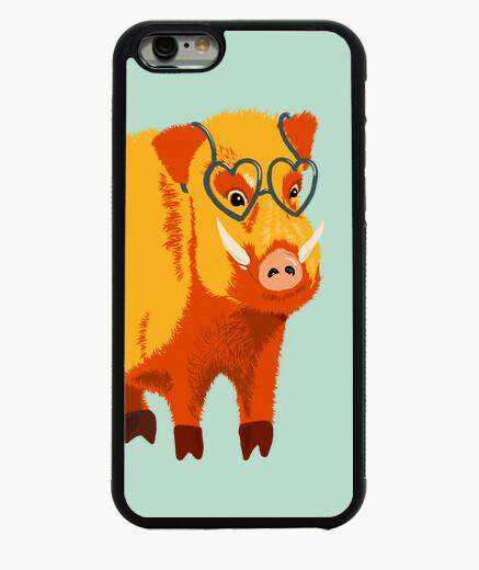Funda iPhone 6 / 6S lindo jabalí divertido con anteojos