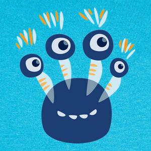 lindo monstruo azul de cuatro ojos T-shirts