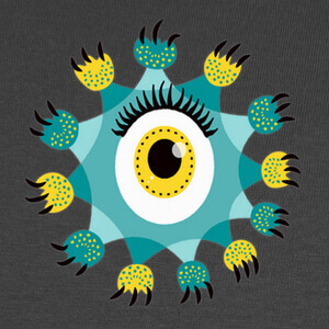Tee-shirts lindo ojo monstruo patas y garras