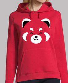 lindo panda rojo