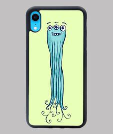 lindo personaje de pulpo monstruo marin