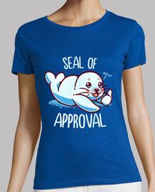 lindo sello de aprobación - camisa de mujer