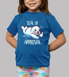 lindo sello de aprobación - camisa de niños