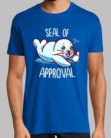 lindo sello de aprobación - camisa para hombre