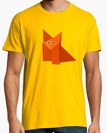 Camiseta lindo zorro de origami