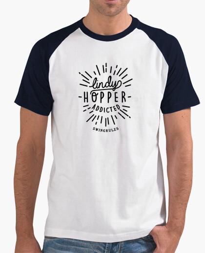 Tee-shirt lindyhopper accro (noir)