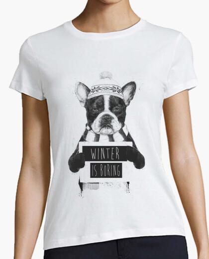 T-shirt l'inverno è noioso