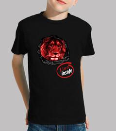 Lion - Niño, manga corta, negra