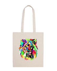 lion coloré