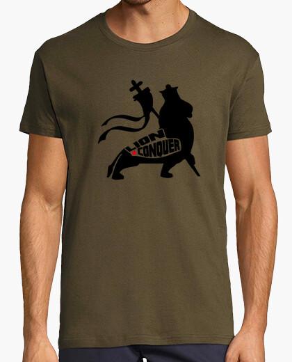 Camiseta LION CONQUER BLK GREEEN
